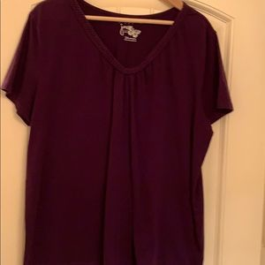 Purple t-shirt perfect for relaxing